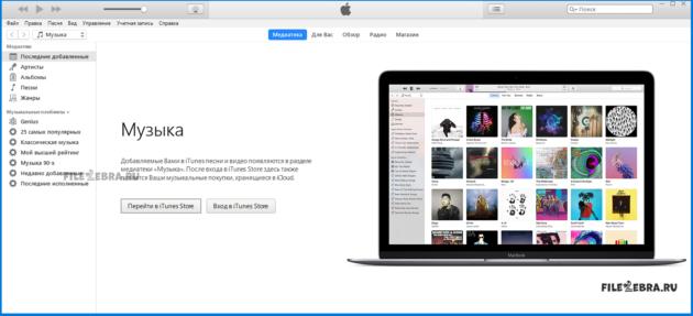 Скачать бесплатно iTunes от Apple - ФайлЗебра.ру