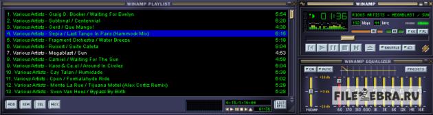 Музыка в Winamp 2.95 (Винамп)