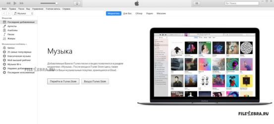 Скачать бесплатно мультмидийный комплекс iTunes